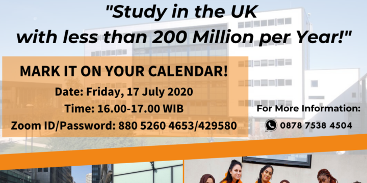 Virtual Info Session: Study in the UK with less than 200 Million per Year!